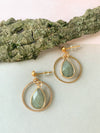 Labradorite Circle Earrings CBK