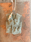Canvas Vest Ornament