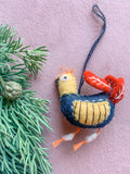 Wool Felted Bird Ornament