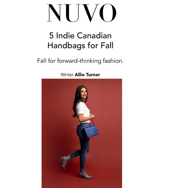 NUVO |  5 Indie Canadian Handbags for Fall
