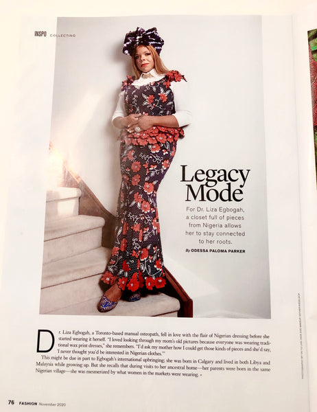 Dr. Liza in the November Issue of FASHION