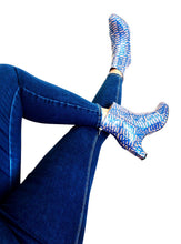 Load image into Gallery viewer, dr. Liza bootie - ANKARA blue