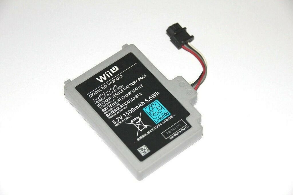 Replacement Battery 1500mAh 3.7V for Nintendo Wii U Gamepad Controller WUP-012