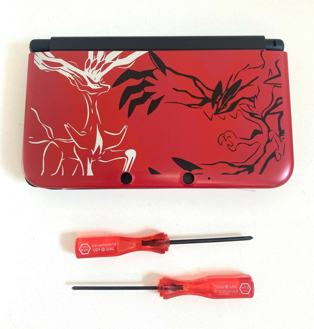 Replacement Housing for 2015 Nintendo 3DS XL Shell Screen Tools Pokemon Red