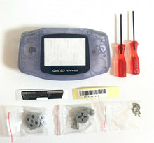 Load image into Gallery viewer, Replacement Housing for Nintendo GBA Game Boy Advance Shell Screen Glacier Gray