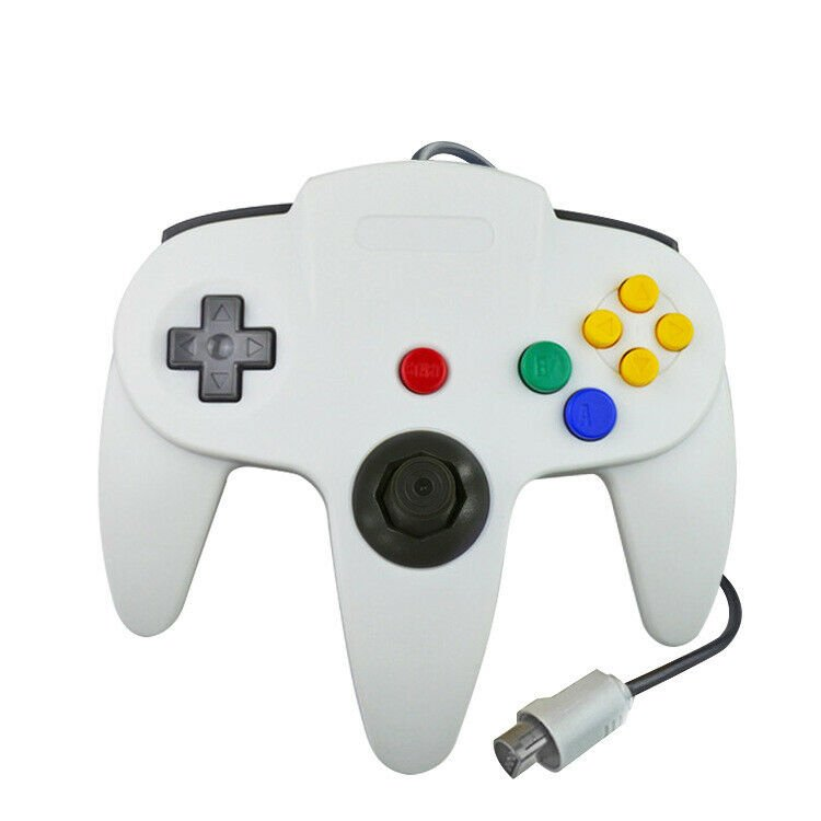 White N64 Gamepad Controller (for Nintendo 64) Tight Joystick Free Ship