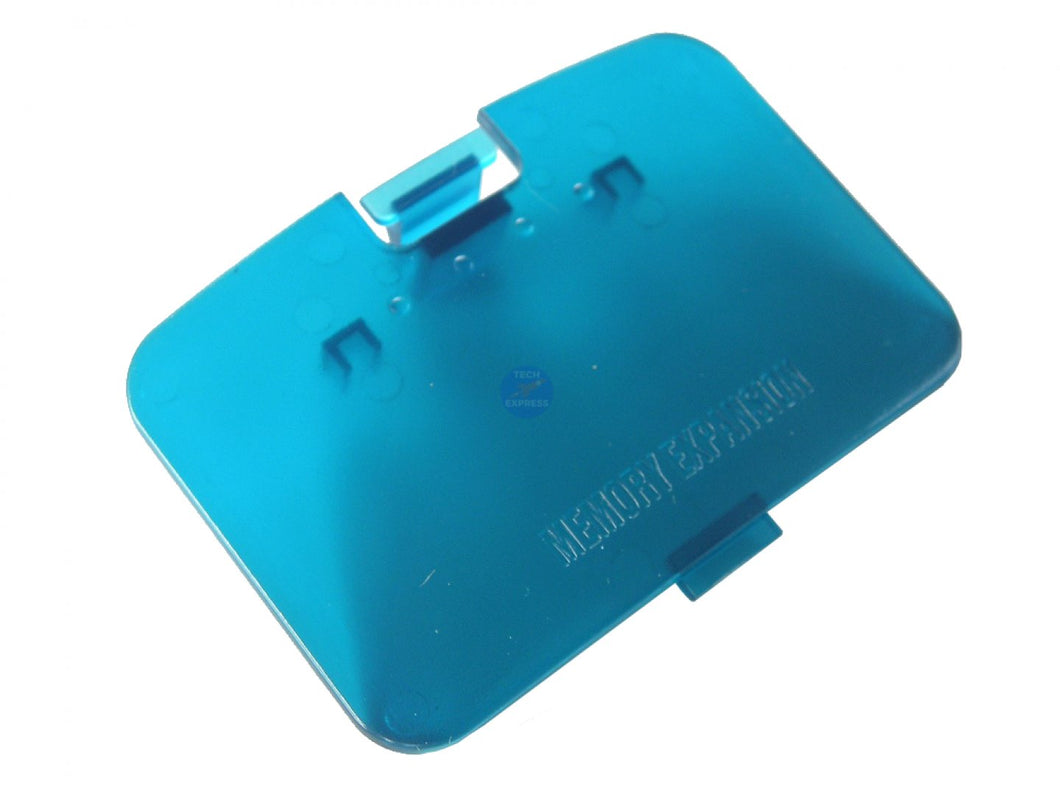 Ice Blue Nintendo 64 Jumper Lid N64 Pack Memory Expansion Cover Replacement