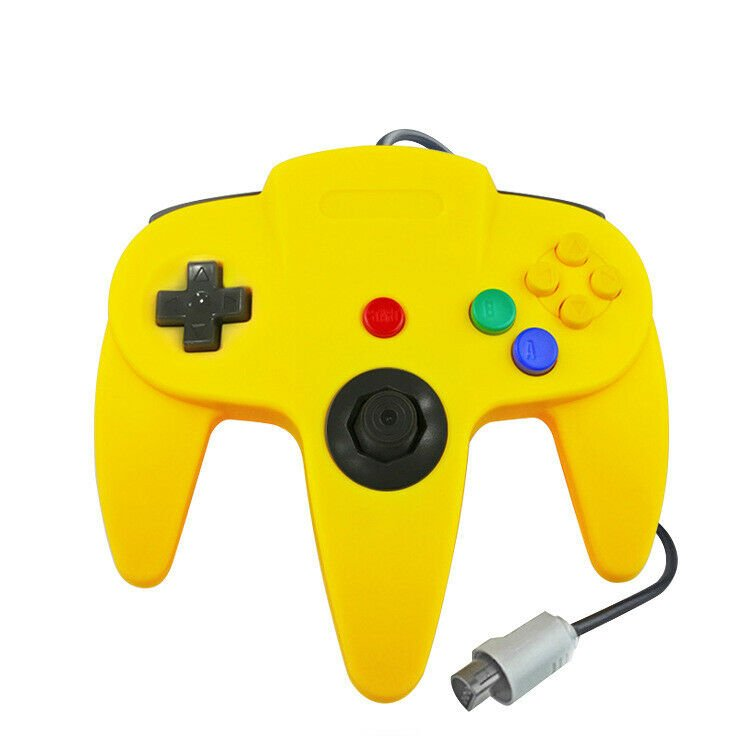 Yellow N64 Gamepad Controller (for Nintendo 64) Tight Joystick Free Ship