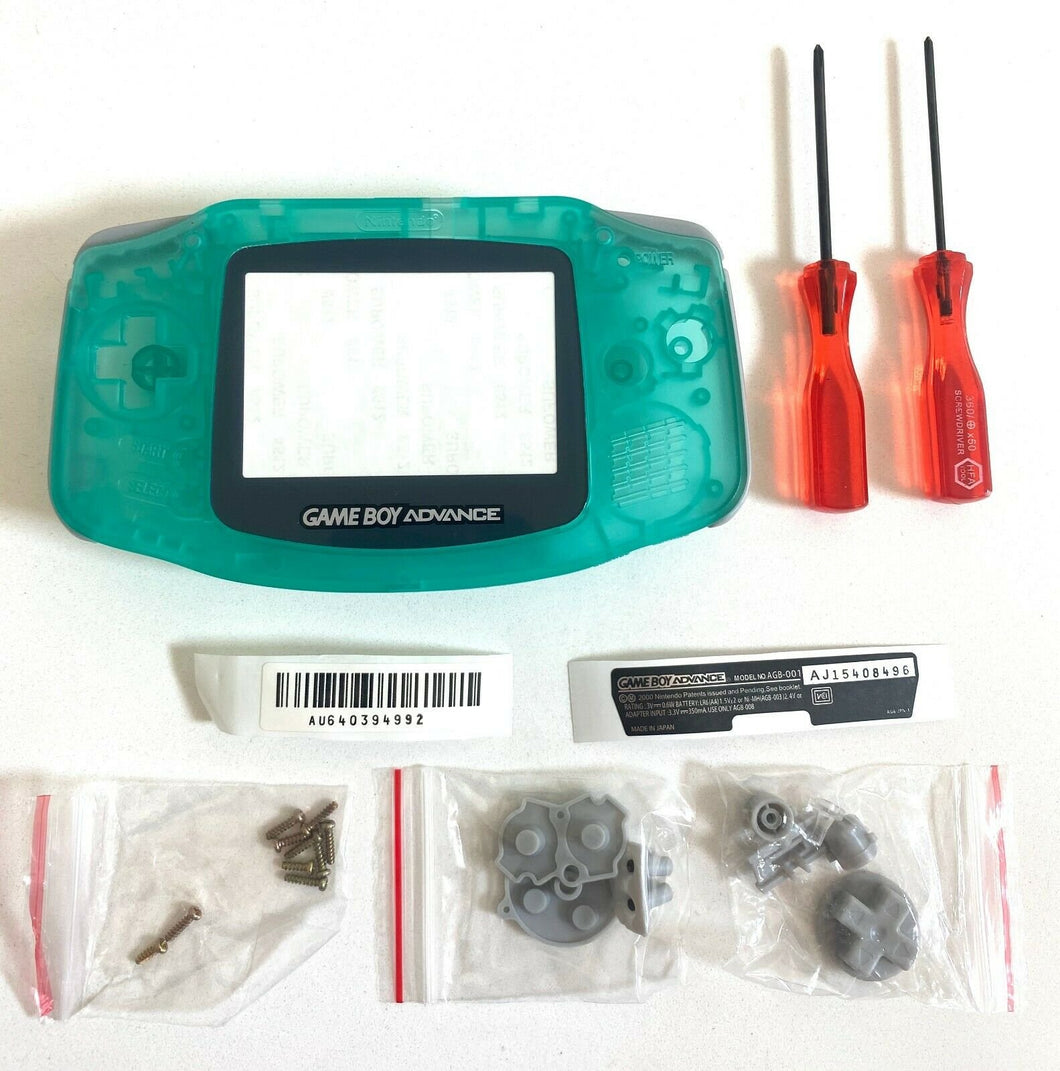 Replacement Housing for Nintendo GBA Game Boy Advance Shell Screen Glow In Dark