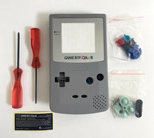Load image into Gallery viewer, Replacement Housing for Nintendo Game Boy Color GBC Shell Silver Gray Grey