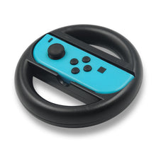 Load image into Gallery viewer, Mario Kart 8 Steering Wheel for Nintendo Switch Joy-Con Black 2-Pack Deluxe Race