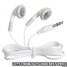 Load image into Gallery viewer, 100 Lot Bulk Wholesale White 3.5MM Headphones Earbuds Earphones for iPhone