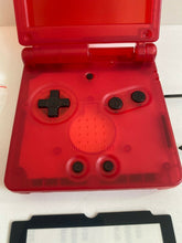 Load image into Gallery viewer, Replacement Housing for Nintendo GBA Game Boy Advance SP Shell Clear Red Tools