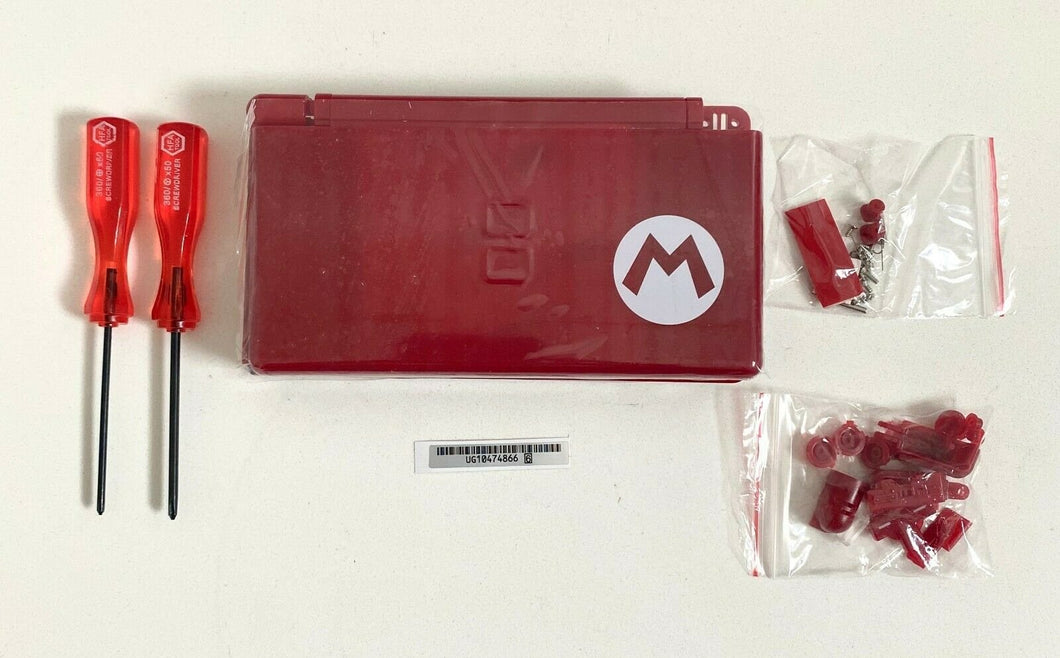 Replacement Housing for Nintendo DS Lite Glass Lens Shell Red Mario Limited
