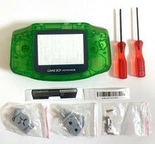 Load image into Gallery viewer, Replacement Housing for Nintendo GBA Game Boy Advance Shell Clear Jungle Green