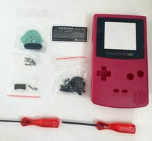 Load image into Gallery viewer, Replacement Housing for Nintendo Game Boy Color Lens GBC Shell Berry Red