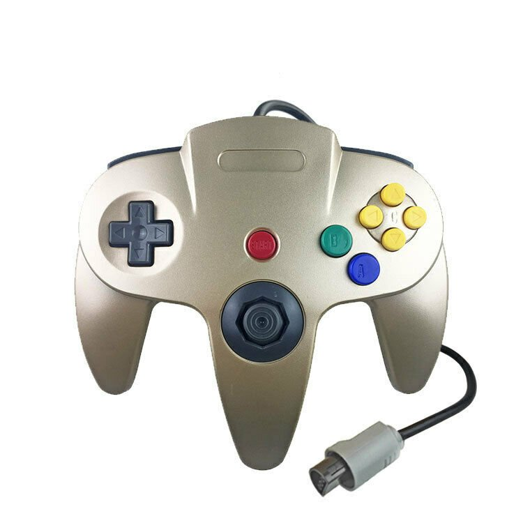 Gold N64 Gamepad Controller (for Nintendo 64) Tight Joystick Free Ship
