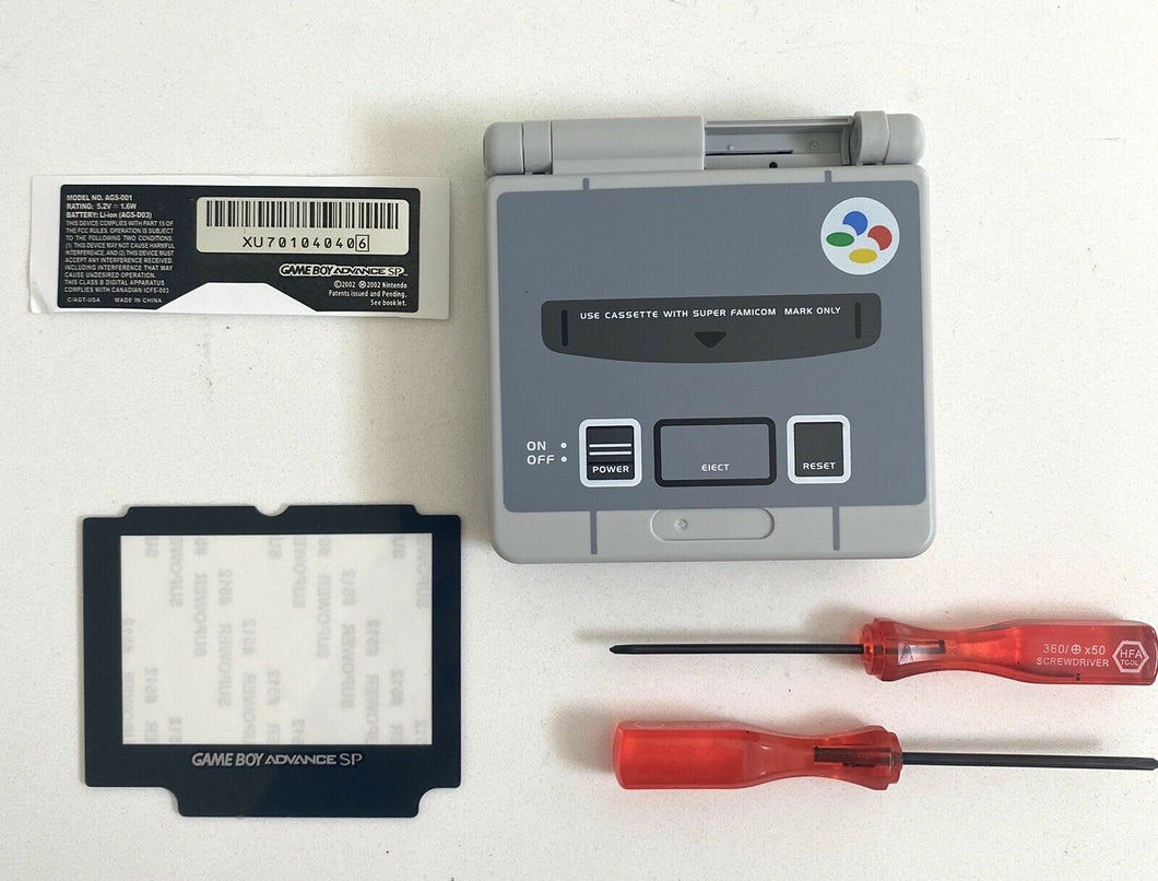 Replacement Housing for Nintendo GBA Game Boy Advance SP Shell Gray Famicom