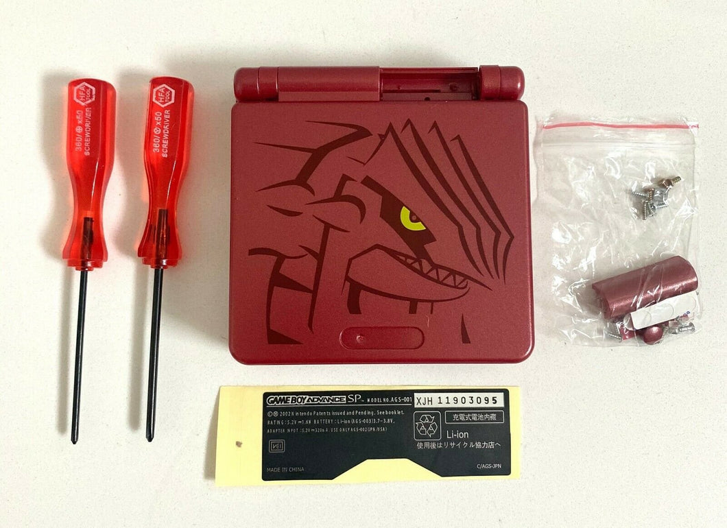 Replacement Housing for Nintendo GBA Game Boy Advance SP Shell Red Groudon