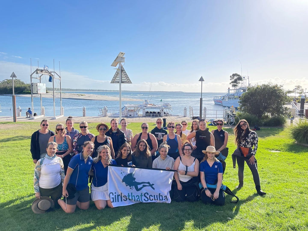 International Women's Day Dive event in Jervis Bay