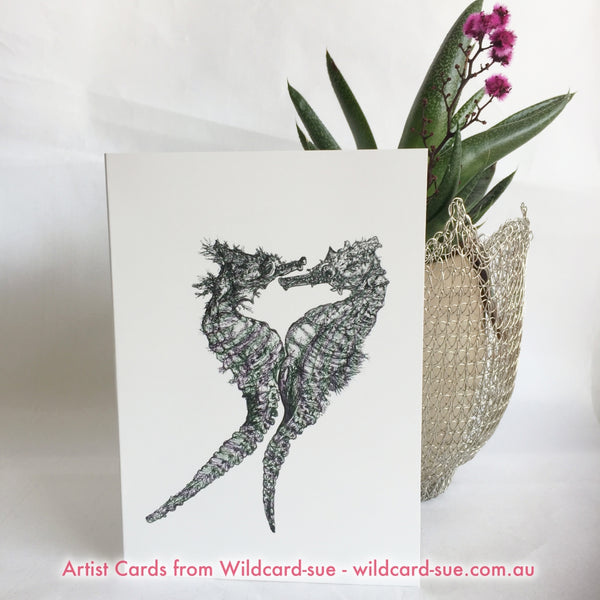 Seahorse card - Chris and Gladis by Wildcard-Sue