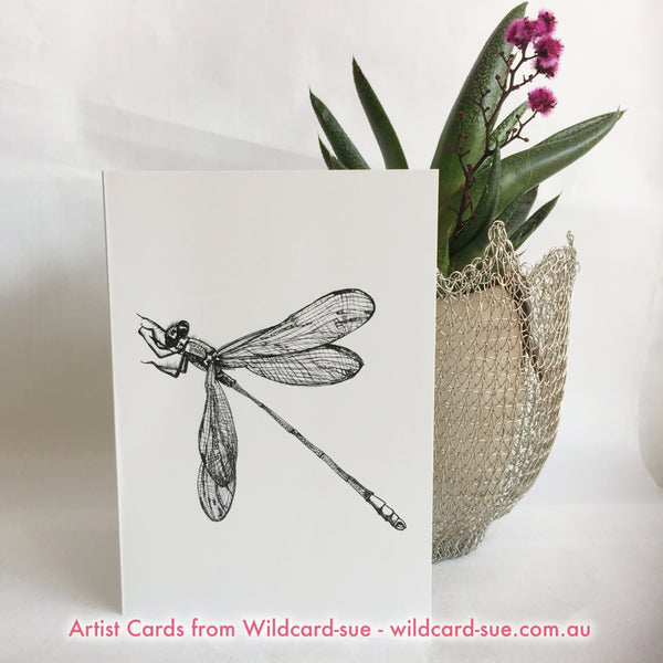 Dragonfly card -Lynette by Wildcard-Sue
