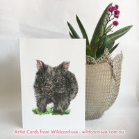 Wombat card - Billie the baby Wombat by Wildcard-Sue