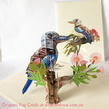 Kookaburra Origami Pop Card