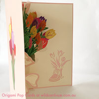 Bouquet of Tulips Origami Pop Card