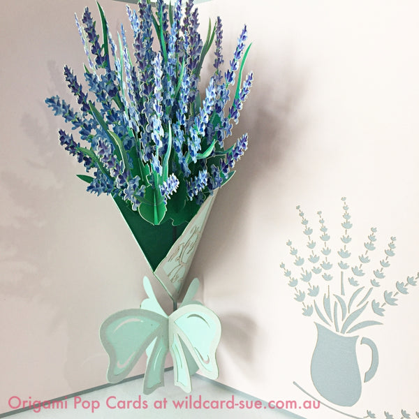 Bouquet of Lavender Origami Pop Card