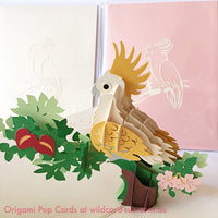 Major Mitchell Cockatoo Origami Pop Card