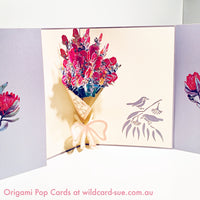 Bouquet of Banksia Origami Pop Card
