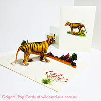 Tasmanian Tiger Origami Pop Card