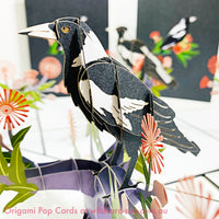 Magpie Origami Pop Card