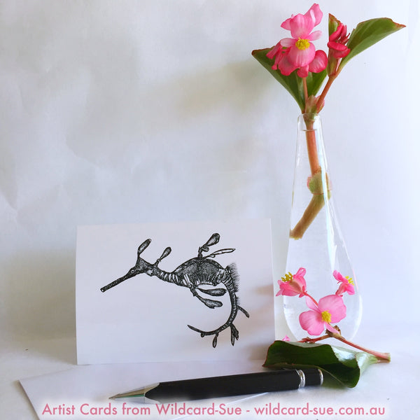 Weedy Sea Dragon card - Pee Jay by Wildcard-Sue