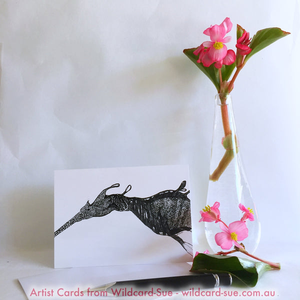 Weedy Sea Dragon card - Barbara by Wildcard-Sue