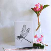 Dragonfly card - Hope by Wildcard-Sue