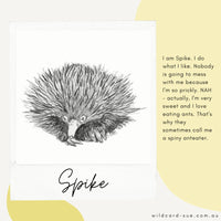 Echidna card - Spike by Wildcard-Sue