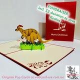 Kangaroo CHRISTMAS Origami Pop Card