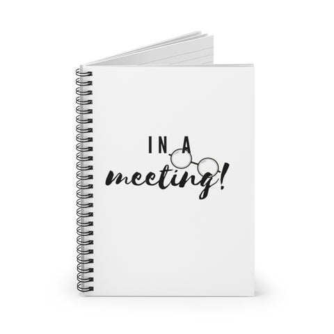 """In A Meeting 2"" Spiral Notebook - Ruled Line"