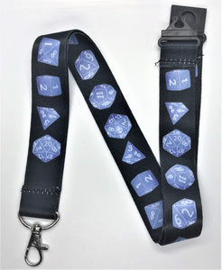 Blue Dice Lanyard