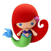 DISNEY LITTLE MERMAID FOAM MOLDED PVC MAGNET