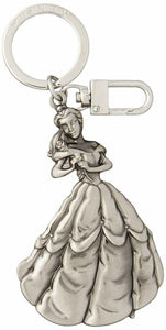 Disney Princess Belle Pewter Keychain