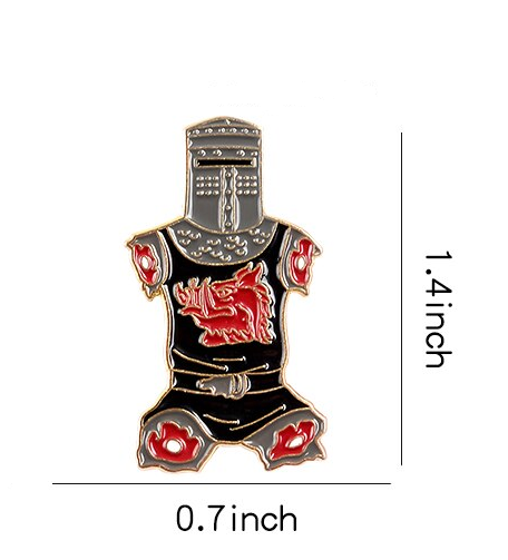 Black Knight Lapel Pin
