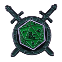 D20 Coat OF Arms Enamel Pin