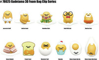 Gudetama Lazy Egg 3D Foam Bag Clip