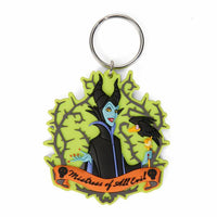 DISNEY VILLAINS MALEFICENT SOFT TOUCH PVC KEYCHAIN