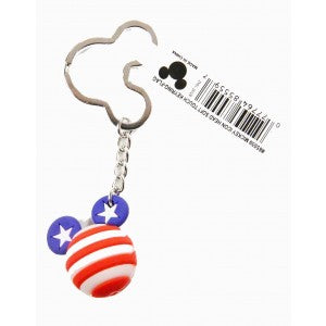 Disney Micky Mouse Icon Ball Keychain American Flag