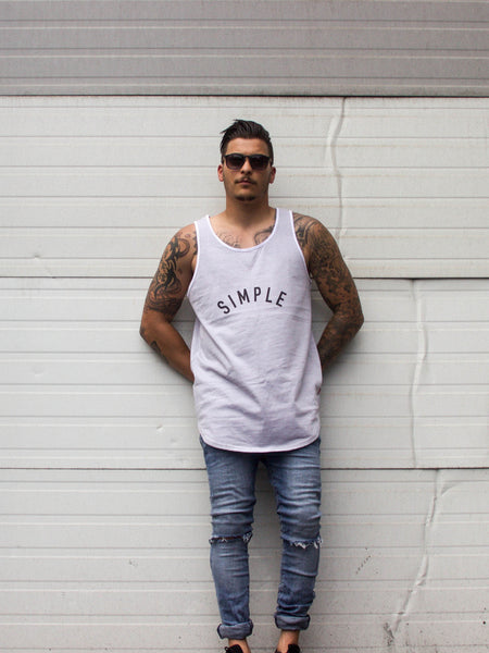 003 Rounded Logo Premium Tanktop Striped