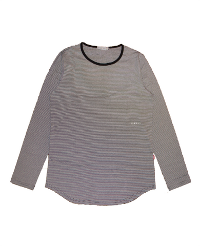 . Striped Long Sleeve Top
